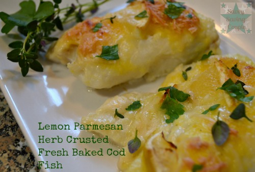 Parmesan Herb Crusted Fresh Baked Cod Fish Lemon Parmesan Herb Crusted ...