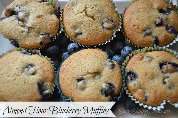 Delicious Blueberry Muffins Made with Almond Flour *Low Carb & Gluten ...