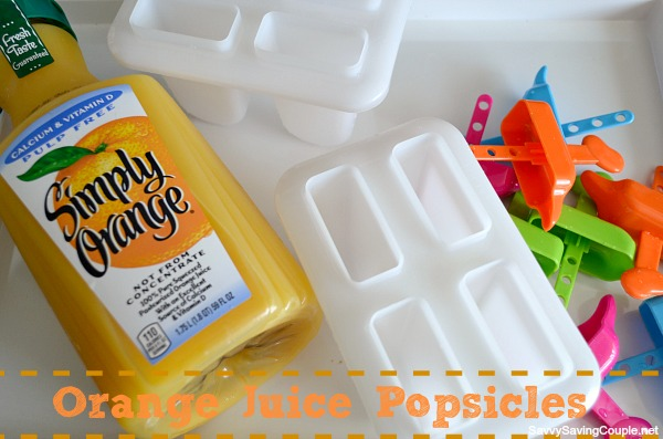 Make Your Own Orange Juice Popsicles - Savvy Saving Couple