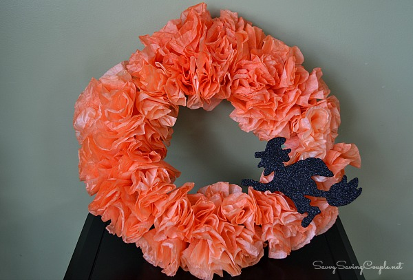Halloween Coffee Filter Wreath How to Make a Coffee Filter Halloween Wreath