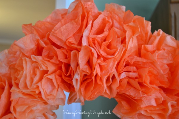 Orange Coffee Filter Wreath How to Make a Coffee Filter Halloween Wreath