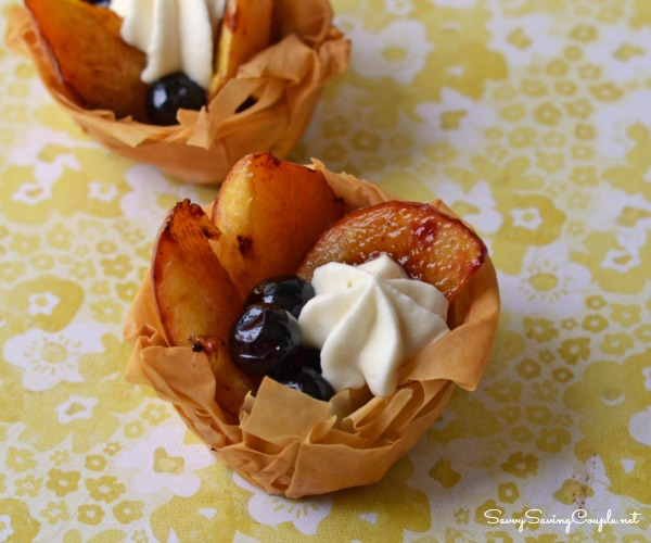 ... Peach and Blueberry Filo Dough Fruit Tarts - Savvy Saving Couple