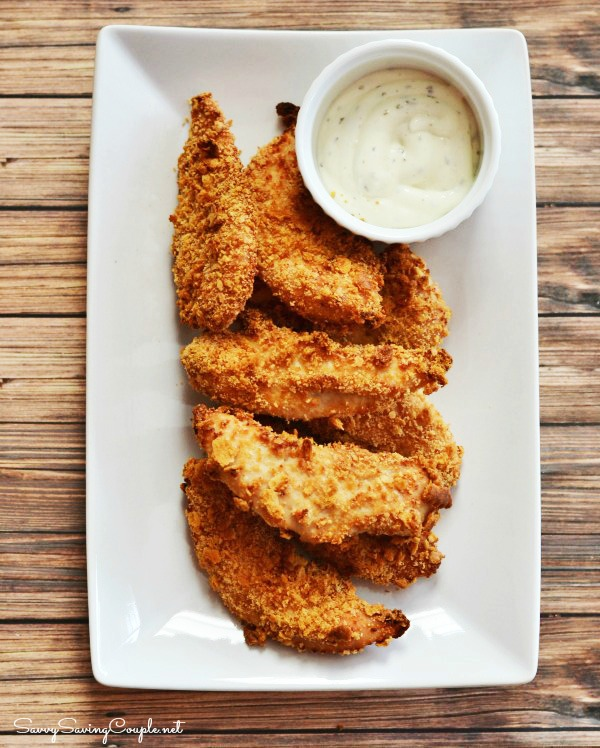 How To Make 2 Ingredient Oven Fried Chicken Tenders - Savvy Saving ...