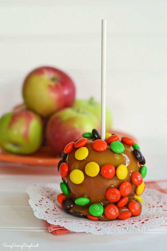 caramel apple on stick Easiest Candy Apple Recipe Ever!