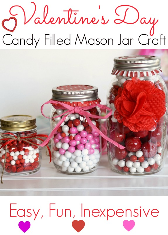 Valentine S Day Crafts With Mason Jars For Kids