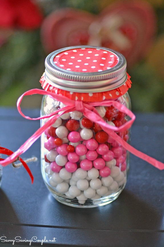 valentine's day themed candy filled mason jars diy ⋆ savvy saving, Ideas